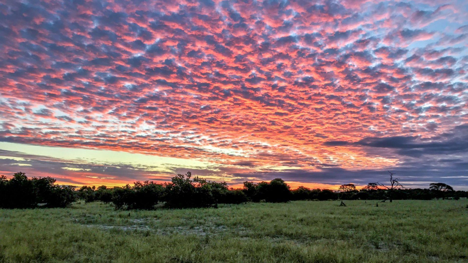 Botswana mobile safari sunset Khwai