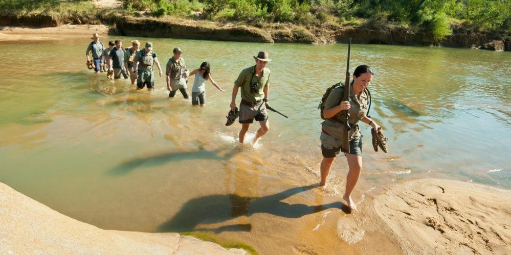 Ecotraining bush walk students water