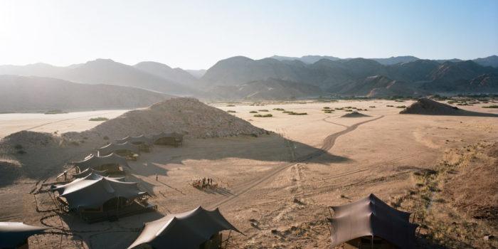 Hoanib Valley Camp Aerial view2