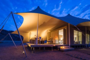 Northern Namibia Hoanib Skeleton Coast Camp Guest Tent Exterior