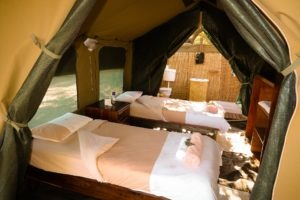 chilo gorge gonarezhou tent bathroom