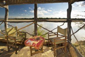 island bush camp veranda view