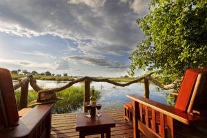kwando lagoon camp room deck
