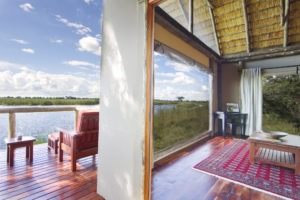 kwando lagoon camp room outside