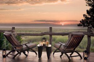 linyanti bush camp sundowner view