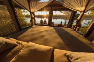 luambe camp bedroom outside view