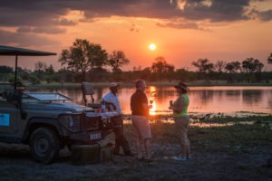 machaba camp guests sundowner