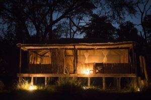 musekese kafue chalet night