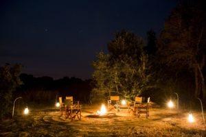 musekese kafue fireplace night