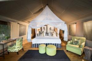 pafuri camp tent interior
