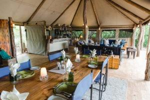 sango safari camp khwai dining area