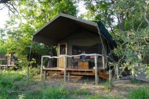 sango safari camp khwai tent exterior