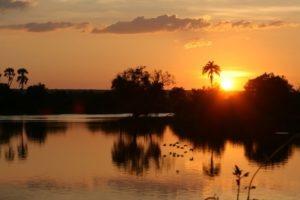 zambia self drive safari sunset