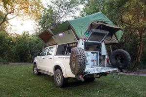 zambia self drive safari vehicle set up