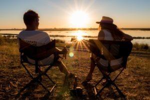 Northen Botswana Chobe Sunset Drinks Cheers Frank Gesa