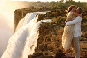 Zambia Livingstone island victoria falls romantic couple
