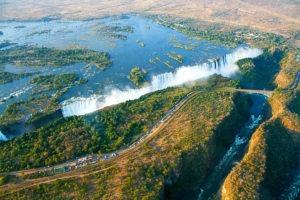 Zimbabwe victoria falls aerial photo world wonder