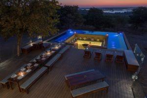 chobe pangolin hotel view night