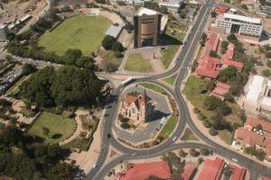 windhoek namibia aerial