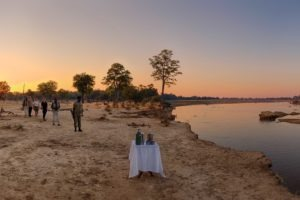 zambia south luangwa walking safari sunset drinks