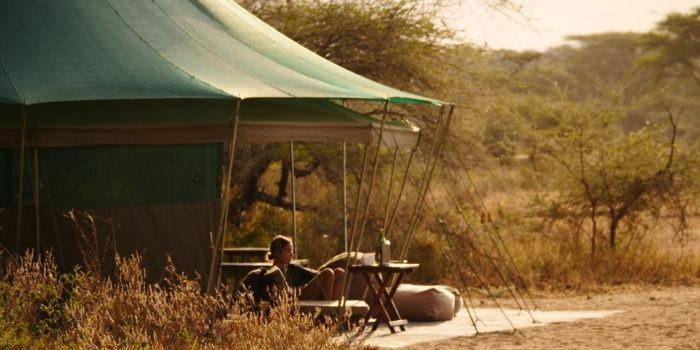 banagi green camp tanzania guest lounge