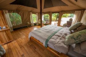 manyara green camp bedroom view