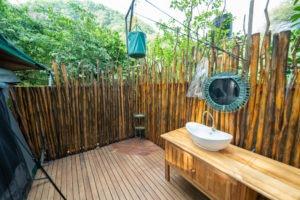 manyara green camp bucket shower
