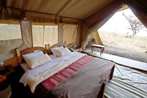 mysigio camp tanzania double bed