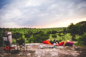 tanzania safaris guests sundowner