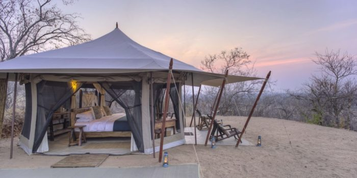 kichaka ruaha guest tent outside