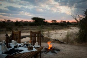 kigelia ruaha fireplace sunset