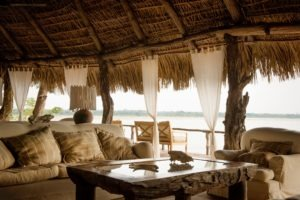 sand rivers selous lounge view