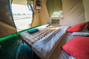 wayo walking camp serengeti bed view