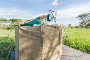wayo walking camp serengeti toilet tent