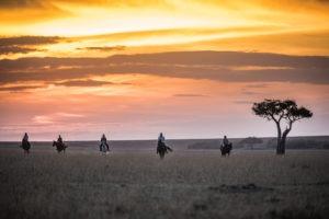 Horse Safari Riding out in the Mara