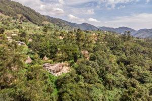 bwindi lodge uganda aerial