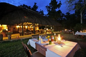 ishasha wilderness camp uganda outdoor dining