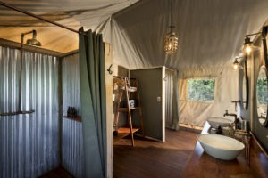 khwai tented camp botswana bathroom