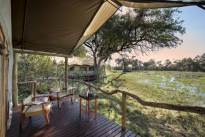 khwai tented camp botswana bedroom view
