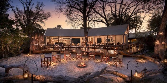 khwai tented camp botswana fireplace