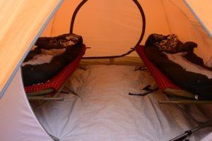 kilimanjaro climbing inside tent