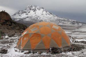 kilimanjaro climbing main tent snow
