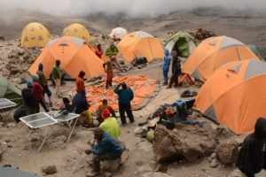kilimanjaro climbing setup camp