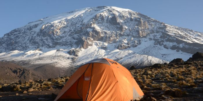 kilimanjaro climbing tent setting