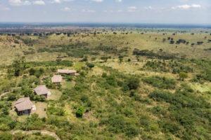 kyambura gorge lodge uganda aerial