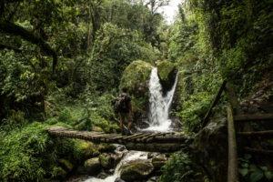 rwenzori trekking uganda waterfall 1