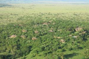Birdseye view of Lewa Wilderness