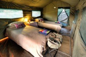 Okavango Expeditions Inside tent