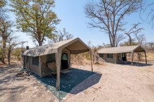 mobile safari botswana luxury tent outside