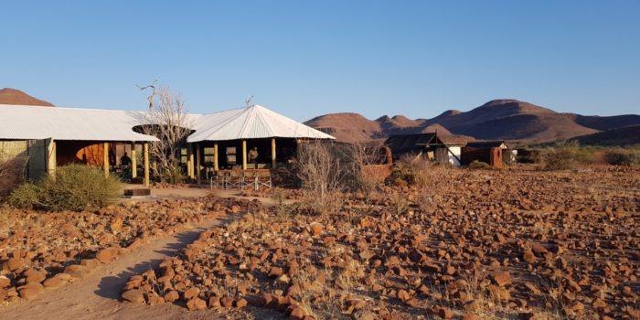 Etendeka Mountain Camp entrance 1